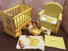 Barbie baby Nursery Set Furniture ,crib ,sofa ,carrier.Beauty and the Beast