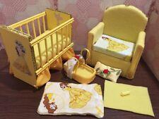 Barbie baby Nursery Set Furniture ,crib ,sofa ,carrier.Beauty and the Beast