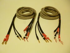 Schmitt Custom Audio Reference 100XX 4x10 Gauge Bi-Amp Spkr Cables 10', 1pr