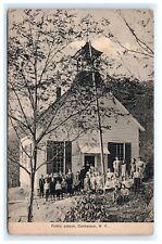 Public School Cochecton NY Sullivan County Postcard 1915 Catskills B1