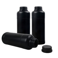 3X 500ml Darkroom Chemical Developer Storage Bottles With Caps Film Processing