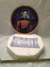 Hamilton Collection Plate Lt. Commander Data