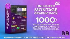 Adobe Première Pro and After Effects Unlimited Graphic Pack 1000+ Elements