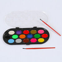 12 Pcs Aquarelle Palette Brush Set Peinture Plateau Artisanat Dessin Art Mini