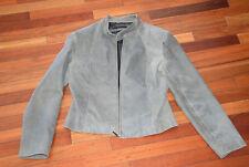 Collezione Women's Distressed Genuine Leather Jacket Sz L Coat Great