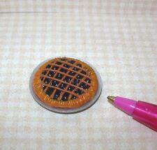 Miniature Nice Blueberry Pie, Lattice Crust for DOLLHOUSE Miniatures 1:12 Scale