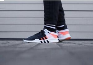 Rare Adidas EQT Support ADV Shoes Core Black Turbo Neon Pink BB0543 Size 6