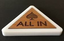 *Unique* Poker All In Button Wood / Plastic Triangle Custom Poker Game Dealer