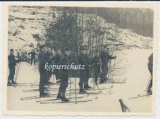 Foto Soldaten-Winter mit Ski-Skier-Schneeschuhe 2.WK (1320)