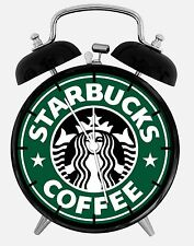 "Starbucks Coffee Alarm Desk Clock 3.75"" Home Decor A474 Nice For Gift"