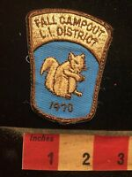 Vtg 1970 LONG ISLAND DISTRICT FALL CAMPOUT New York Patch - Squirrel S70X