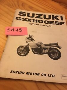 Suzuki GSX1100ESF GSX1100E Sf GSX 1100 Esf Manual Preparation Instalacion Manual