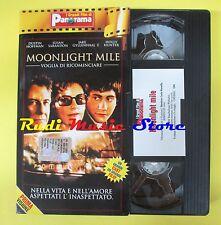 film VHS cartonata MOONLIGHT MILE voglia di ricominciare PANORAMA (F21*) no dvd