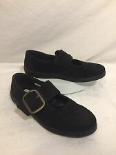 ROMIKA Schwarz Black Mary Jane Buckle Shoes Suede Leather US 6 EUR 36