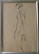 Sigfred Pedersen ( 1903) Female nude. Art Deco. Dated 1939