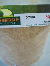 GROUND UP SCENERY STATIC GRASS ORCHRE 5mm 50g