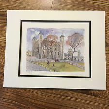 Angela Fielder Watercolour Print - Yeoman at the Tower of London - 615/850
