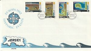 JERSEY 20 APRIL 1982 HISTORICAL EVENTS FIRST DAY COVER JERSEY SHS