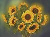 Sunflower Cross Stitch, Counted Cross Stitch Kit