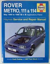 HAYNES MANUAL - ROVER METRO,111 & 114 - 1990 to 1998 - PETROL