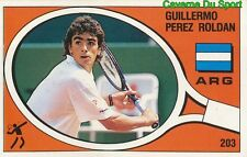 203 PEREZ ROLDAN ARGENTINA TENNIS STICKER SUPERSPORT 1988 PANINI RARE & NEW