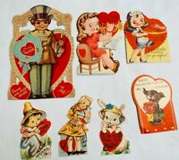 Vintage Valentine Cards 1950s Made in USA Paper Collectibles Valentine's Decor