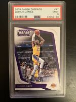 2018 Panini Threads #47 - LeBRON JAMES PSA 9 Gem Mint LAKERS STAR INVEST📈CHEAP!