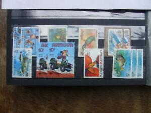 Briefmarken Sammlung Antigua Karibik Gestempelt
