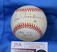 Bobby Richardson Jsa Coa Signed American League Oal Baseball Autograph Authentic