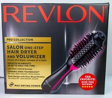 Revlon PRO Collection Salon One Step Hair Dryer and Volumizer Brush - Black/Pink