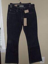 NWT 518 Levi's Sz 28 Jeans Superlow Bootcut Juniors Women Dark Wash Stretch L30