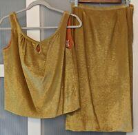 Carol Craig Vintage Gold Two-Piece Skirt Set