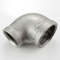 """1""""X3/4"""" Female Threaded Elbow Reducer Pipe Fitting 90 Degree angled SS304 NPT"""