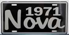 1971 71 NOVA METAL LICENSE PLATE SS SUPER SPORT 350 396 427 CONVERTIBLE COPO