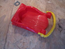 Fisher Price Little People Christmas Main Street St Village sleigh red sled toy