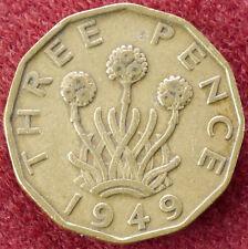 GB Brass Threepence 1949 (D0904)