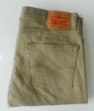 mens genuine LEVIS  511 jeans slim fit straght leg beige 36W 32L levi strauss
