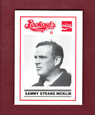 SAMMY STRANG ~ 1989 Chattanooga Lookouts LEGENDS II Regional History Museum card