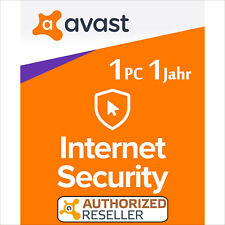Avast Internet Security 1 PC 1 year 2020 Full Version/Upgrade Antivirus Premium