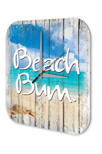 Wall Clock Sayings  Beach Bum Printed Acryl Acrylglass