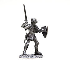 54mm miniature France Knight with sword 14th century 1:32 toy figures