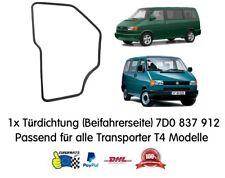 VW Volkswagen Transporter T4 Türdichtung Dichtung (Beifahrerseite) 7D0837912