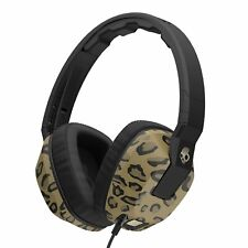 SkullCandy SGSCGY132 Crusher Headphones with Built-in Amplifier and Mic, Leopard