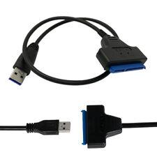 """USB 3.0 auf SATA 7+15 Pin Konverter Adapter Kabel für 2.5"""" Zoll HDD Festplatten"""