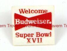 1983 BUDWEISER BEER Super Bowl XVII pin Tavern Trove Football