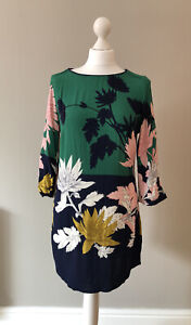 Joules Felicia Tunic Dress Size 10, Big Bold Print, Green