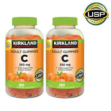 New Kirkland Signature Vitamin C 250 mg 360 Adult Gummies 2 Bottles Orange