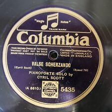 78rpm CYRIL SCOTT piano solo , valse scherzando / water wagtail