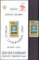 ADEN / Hadhramaut 1967 Boy Scouts World Jamboree MNH**Mi.:122 Bl.10 23,00 Eur