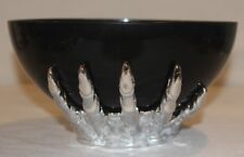 """Midnight Market - """" HALLOWEEN BLACK/SILVER WITCH HAND CANDY BOWL""""   *NEW SEALED*"""